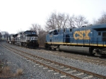 CSX 5494 and NS 9170